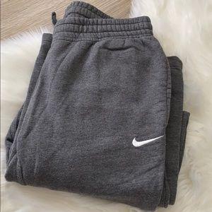 Nike Gray Sweatpants Full Length